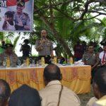 Kapolda Papua Sosialisasikan KAMPUNG ATM di Kabupaten Sarmi